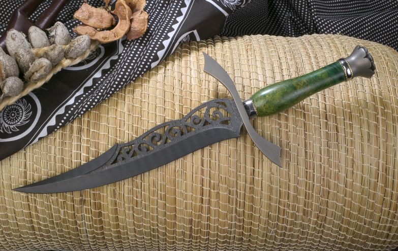 Carved damascus